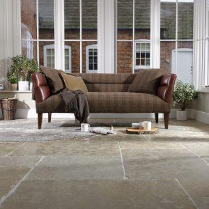Leather sofa classic modern