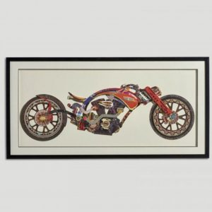 Wall art bike graphics