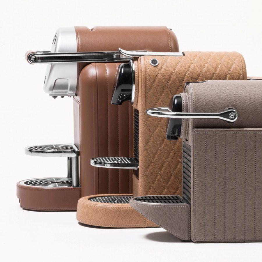 Espresso Coffee Machine in Leather -3